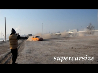 TwinTurbo TechArt Magnum drifting in dirt.mp4