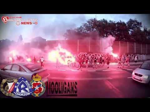 COALITION WIDZEW ŁÓDŹ RUCH CHORZÓW WISŁA KRAKÓW BURNED THE BANNER OF GKS KATOWICE 10 05 2018