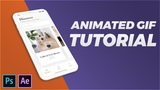 Animated GIF with Perspective Mock-up in Photoshop &amp After Effects CC 2018 Tutorial