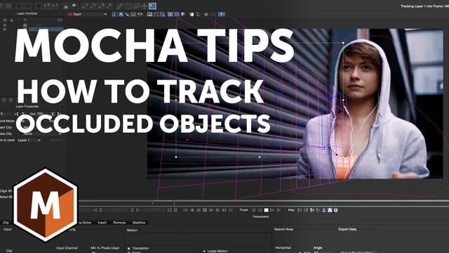 Mocha Tips How to Track Occluded Objects