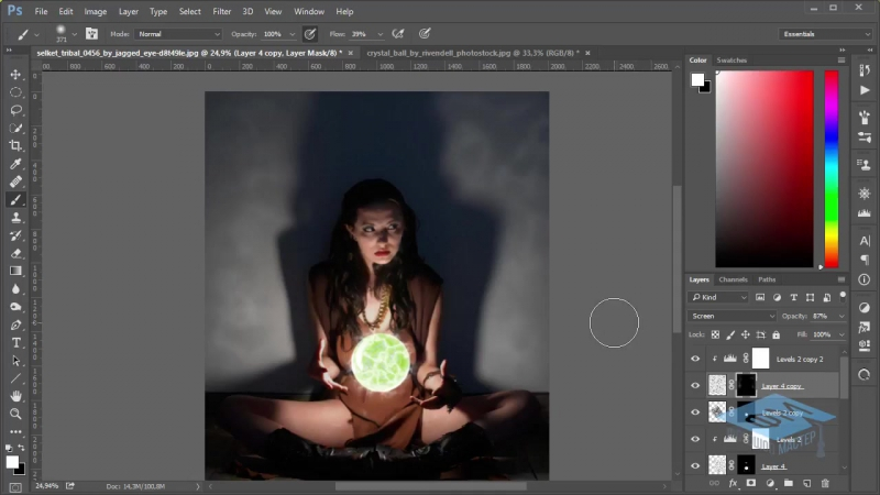 Photoshop (Фотошоп). Создаём таинственную атмосферу. (Марина Эл)