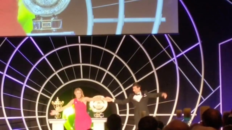 Filatov and Kerber dance at the Wimbledon Champions Dinner 2018