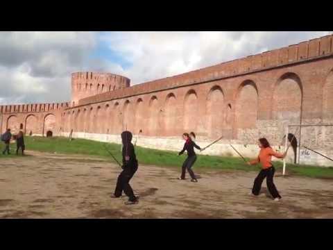 Тайцзицуань тренировка школы Белый Ключ перед выступлением на День города Смоленска