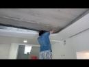 Натягивание полотна нижнего и верхнего уровня