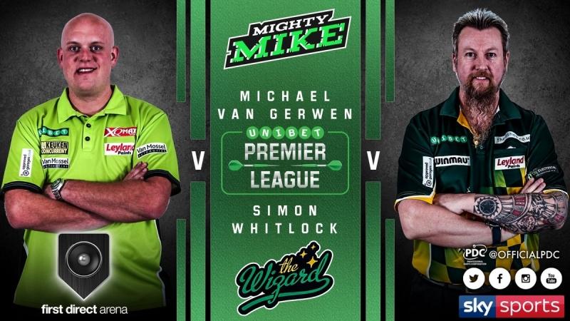 2018 Premier League of Darts Week 5 van Gerwen vs Whitlock