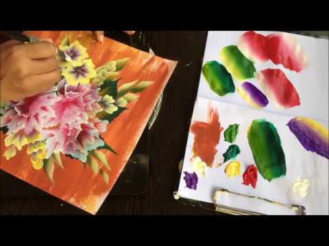 One stroke Painting- Floral Bouquet 2