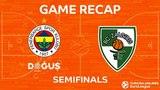 Highlights: Fenerbahce Dogus Istanbul - Zalgiris Kaunas. Евролига. Обзор. Финал четырех. Фенербахче - Жальгирис