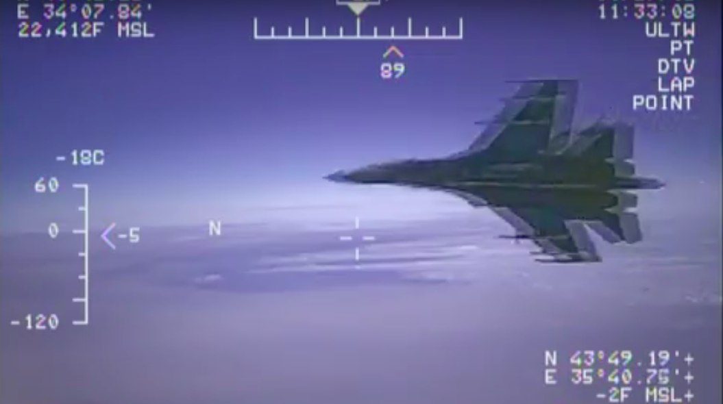 Опубликовано видео перехвата самолета-разведчика над Черным морем