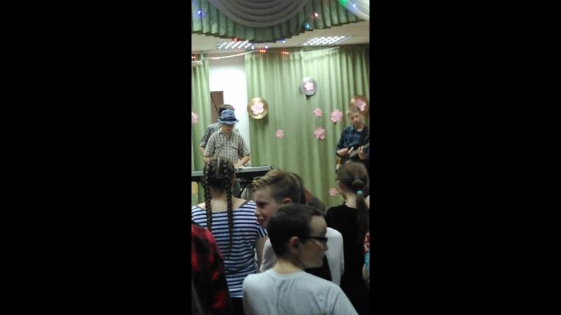 Первое выступление на сцене