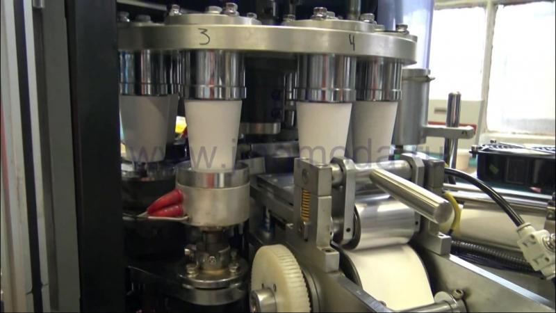 Оборудование для производства бумажных стаканчиков 250мл, видео JMD-160D