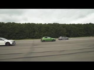 RS 3 v A45 AMG v Civic Type R v Golf R v Focus RS - DRAG ROLLING RACE - Head-to-Head