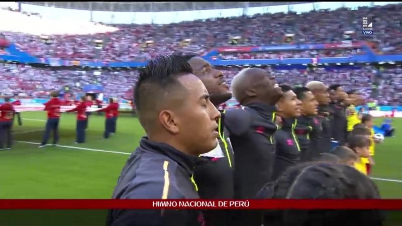 El Himno Nacional del Perú se escucha en un mundial luego de 36 años / Национальный гимн Перу услышан в мировой кубке после 36 л