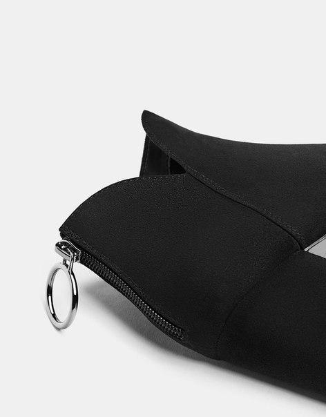 Ботильоны на каблуке, с деталью в виде кольца