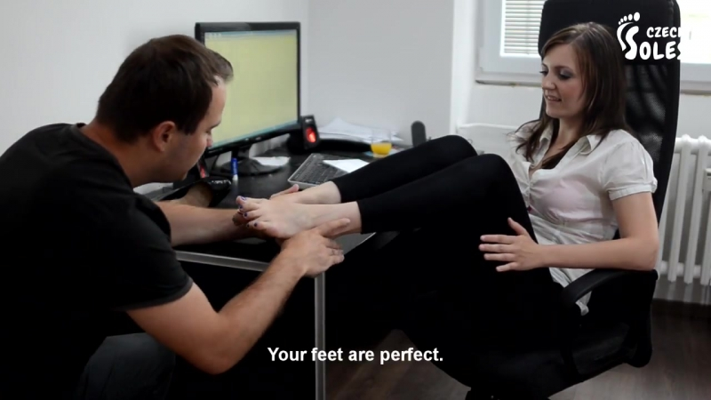 Lucy Feet Shows Licked