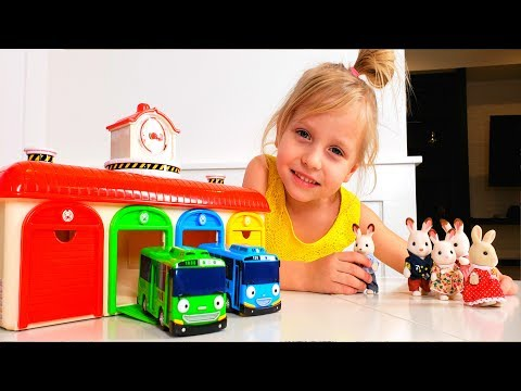 Tayo Little Bus and Rabbit Family Are you sleeping Wheels on the bus songs for kids by Alisa