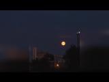 TimeLaps. Начало лунного затмения над Пермью. Вид с улицы Дзержинского.