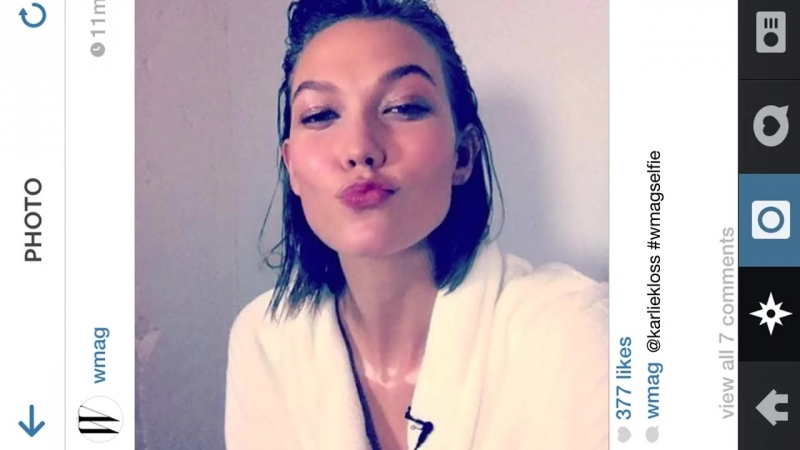 Karlie Kloss and the Worlds Sexiest Models Show You How to Take a Selfie _ W Ma