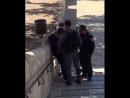 Palestine Israeli occupation forces inspect Palestinian young man in the yards of Al Aqsa قوات الاحتلال تقوم بتفتيش الشبان