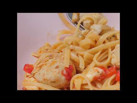 Паста с рыбными фрикадельками и сыром