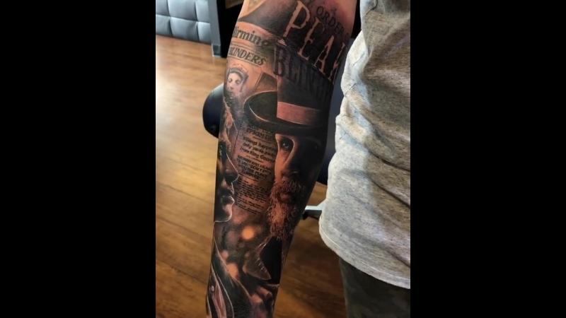 Peaky Blinders Tattoo - artist @da_ink
