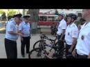 В Саратове полицейские пересели на велосипеды