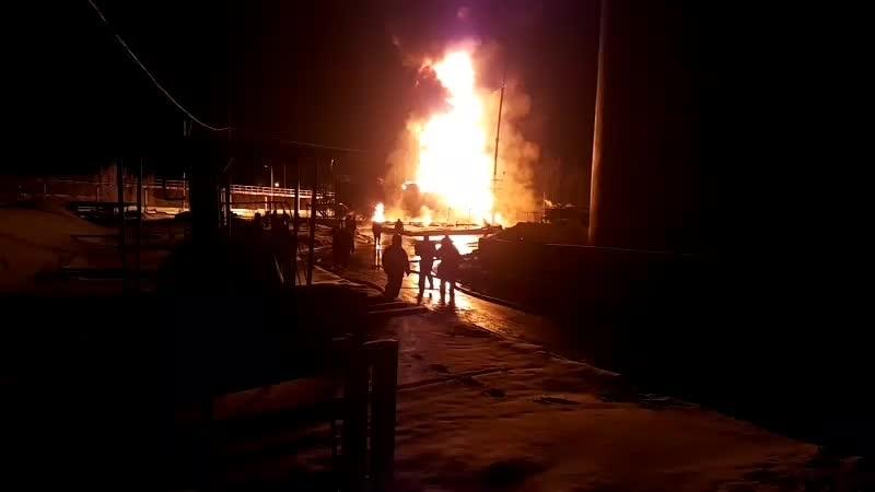 Рудник-Косырёвка. пожар на заводе с нефтепродуктами [Липецк LIVE]