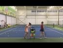 Плоская подача Большой теннис Спорт группа 3й год обучения Академия тенниса ск Олимпийской деревни 80