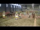 Сергей Сикеев на лошади Вольфрам, маршрут 90 см. (3 место 🥉)