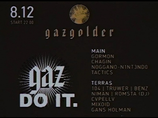 GAZ DO IT / 8 декабря / Gazgolder Club