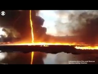 Огненное торнадо в Британии.