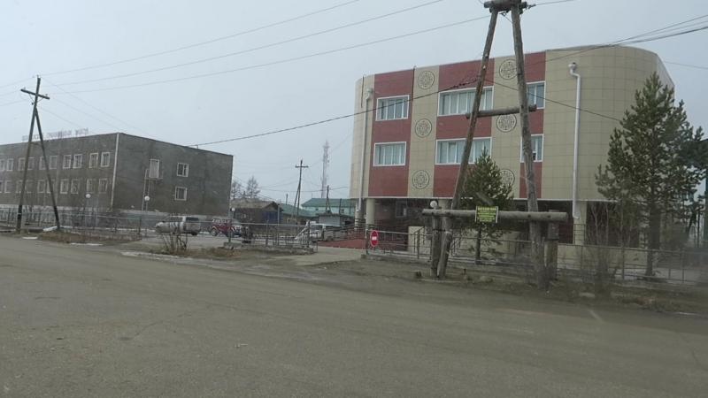 Покровск Якутия Снегопад 25 апреля 2018 года