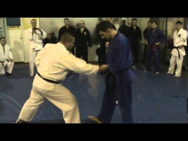 Мотоха Йошин рю Дзю Дзюцу цукі чудан коте гаєши Motoha Yoshin ryu Jiu Jitsu demonstration