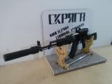 АК 74М своими руками + коллиматор Кобра + глушитель ПБС (макет)