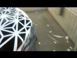 Нанесение трафарета из плёнки на Chevrolet Camaro