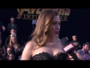 Elizabeth Olsen Live from the Avengers- Infinity War Premiere