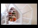 Детская кроватка домик напольный Marselle массив бука
