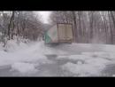 Semi Truck Drifiting on Winter Roads