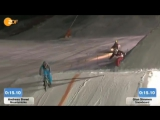 Сноубордист против велосипедиста