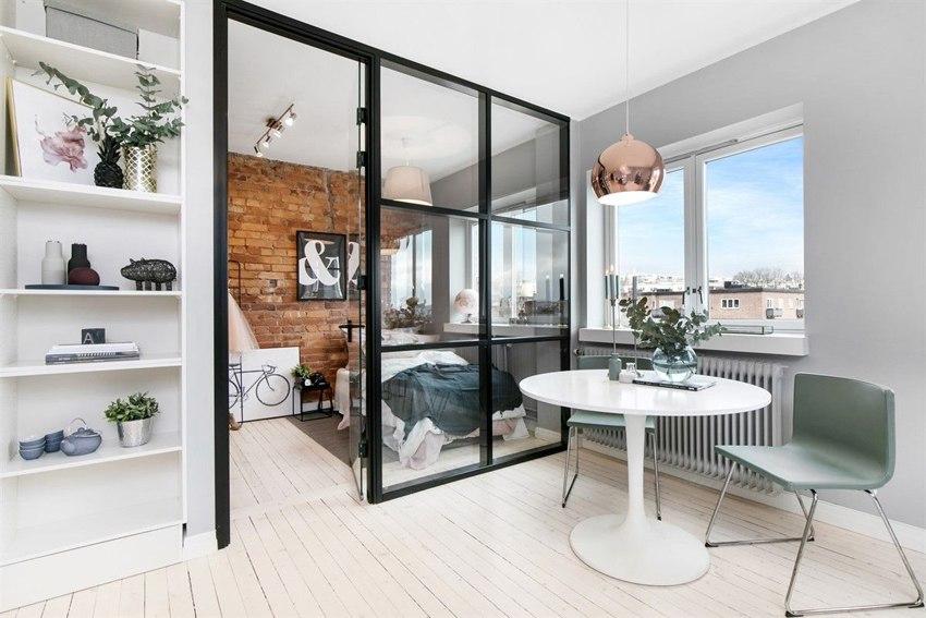 Скандинавская квартира-студия 40 м.
