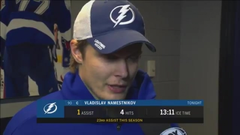 Vladislav Namestnikov says the Bolts turned in one of their best third-period