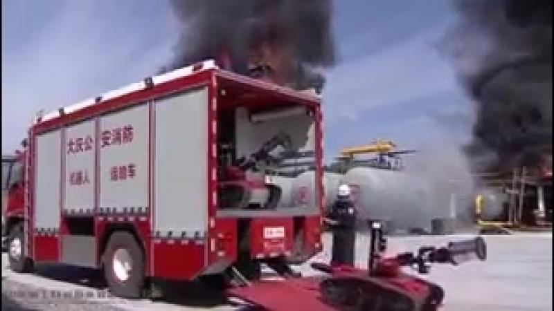 Вот куда техника дошла роботы-пожарные ... 👨🚒