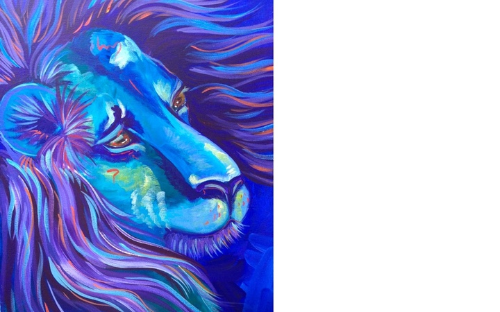 Acrylic painting tutorial Lion The Art Sherpa paint along