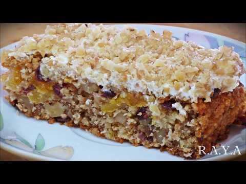 Пирог овсяный с сухофруктами Oatmeal pie with dried fruits