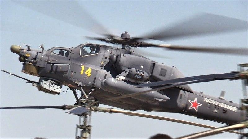 Вертолеты Ми-28Н Беркуты в Кубинке