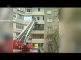 Видео о том, как снимали пенсионерку с балкона четвертого этажа.