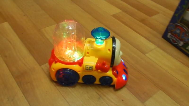 Музыкальный паровозик Томас с фонтанчиком 550 руб