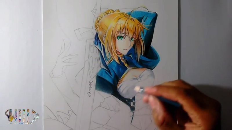 Speed Drawing - Saber Arturia Pendragon (Fate-Stay Night).mp4