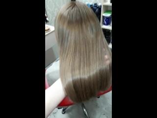 💖Окрашивание для Алены💖 Эффект натуральных, выгоревших на солнце волос, придали форму, создали трендовую челку. Окрашиваниевол