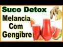 Como fazer suco de melancia com gengibre para emagrecer