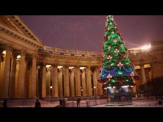 The Beauty of Winter Saint Petersburg at Night. Ночной Санкт-Петербург